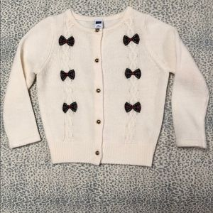 Janie and Jack plaid bow sweater- worn once